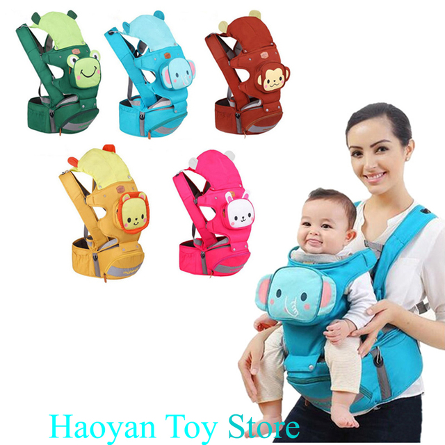 New Ergonomic Baby Carrier 4 In 1 Breathable Front Facing Newborn Infant Kangaroo Baby Carrier With Hipseat Backpack 3-36 Months