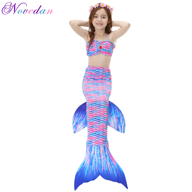 Mermaid Tails Girls 4 11 Years Old Cosplay Shorts Tops Dress Kids Fish Princess -1334