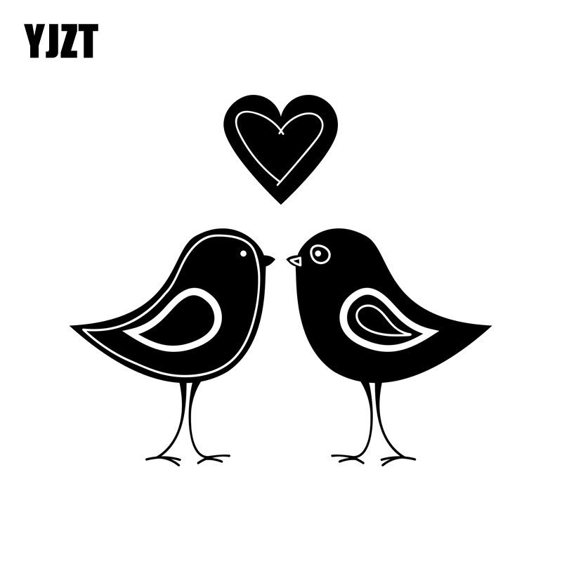 YJZT 13.1CM*11.6CM Funny So Tweet Love Birds Vinyl Car Window Sticker Decal Accessories C11-0977