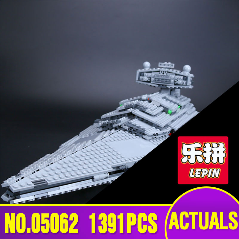 New Lepin 05062 Star 1391pcs Genuine War Series The Star Destroyer Set 75055 Building Blocks Bricks Educational Toys rollercoasters the war of the worlds