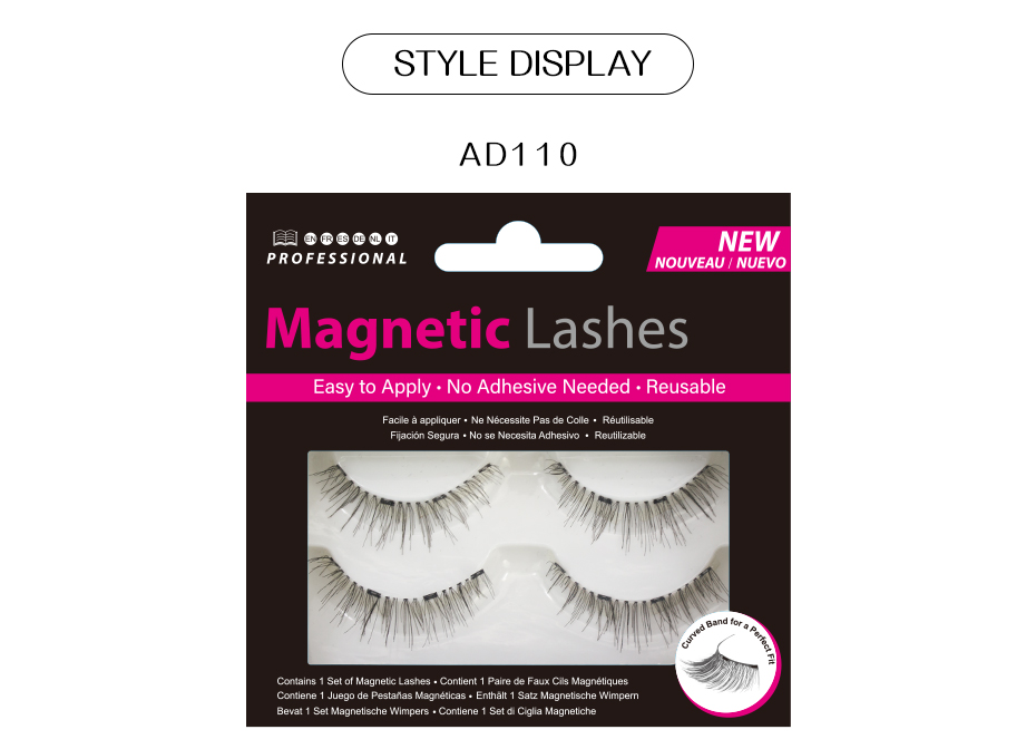 17c24e1793f VICILEY Magnetic eyelashes with 4 magnets handmade 3D/6D magnetic ...