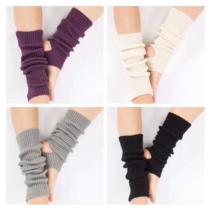 Woman Yoga Socks Gym Fitness Dancing Female Daily Wear Exercising Keep Warm Latin Dance Long Section Knitting Walking Hot