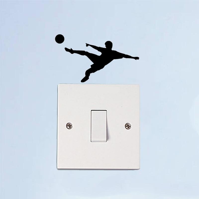 Play Football Fashion Sport Livingroom Wall Sticker Switch Decal Vinyl 6SS0337