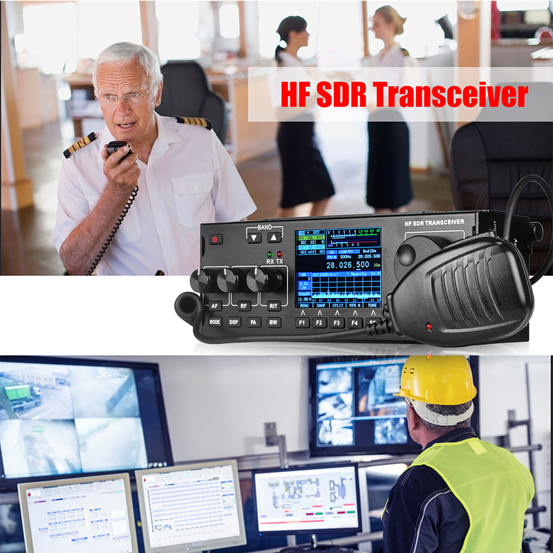 New Arrival RS-978 SSB HF SDR HAM RADIO 1.8-30MHz SSB HF Transceiver With 3800mah Li-ion Battery Pack