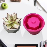 DIY Diamond Shaped Surface Succulent Plant Flower Pot Silicone Mold Gypsum Cement Fleshy Flower Bonsai Silicone Mold Handmade