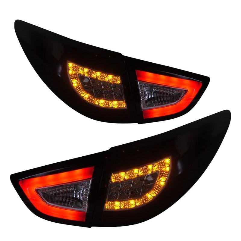 for Hyundai IX35 LED Tail light 2010-2013 Red Housing пороги rival bmw style hyundai ix35 2010 2013 2015 kia sportage 2010 2014 2015 круг 173 см крепеж 2 шт