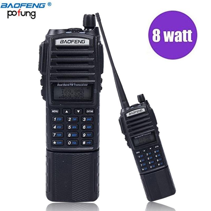 Baofeng UV-82 Più di 8 w Potente 3800 mah Batteria Walkie Talkie Dual Band Radio 10 km Long Range Amateur Ham CB radio Portatile Radio