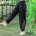 Primavera Verão Novo Cintura Alta Botão E Zíper Longo Pant moda Novas Mulheres do Harém Calça Casual Cor Sólida Calças Soltas TG431