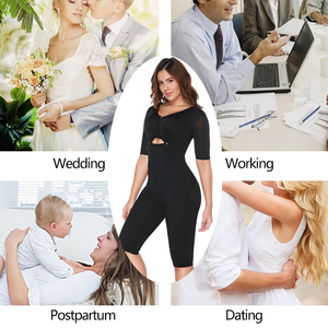 Image 5 - Plus Size Fat Burning Full Body Shaper Slimming Bodysuits Postpartum Recovery Waist Trainer Butt Lifter Weight Loss Shapewear