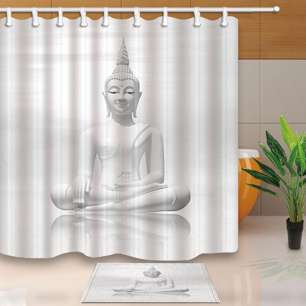 Aliexpress.com : Buy Buddha statue Bed Bath Shower Curtain Sets ...