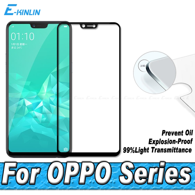 2.5D Tempered Glass For OPPO A1 A3 A83 A79 A77 A75 A73 A71K A71 A59 A59S A57 A37 A30 Full Cover Screen Protector Protective Film