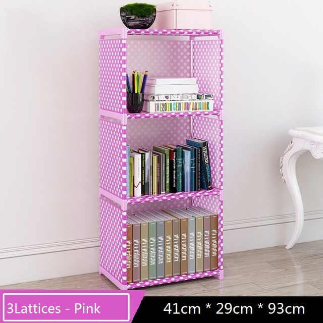 3Layer Simple Cloth Bookcase Creative Printing Household Sundries Storage Childrens Bookshelf Small Library Collection And Toys