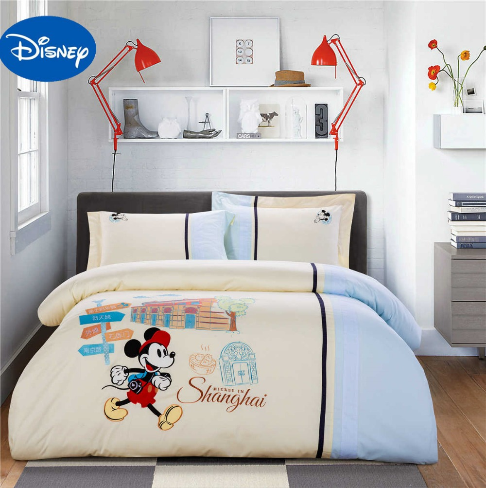 mickey mouse bedding sets queen disney cartoon 4/5pcs 100 ...