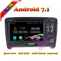 Roadlover 2G+16GB Android 7.1 Car GPS Navigation For Audi TT 2006 2015 Stereo Multimedia DVD Player Auto Video 2Din Quad Core 3G