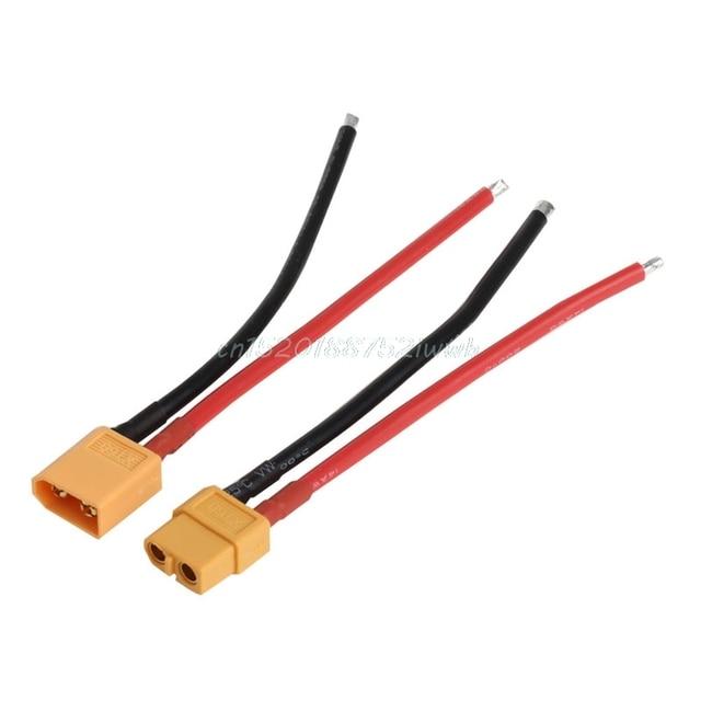 1 paire de XT60 batterie mâle femelle connecteur prise avec silicium 14 AWG fil # T026 #