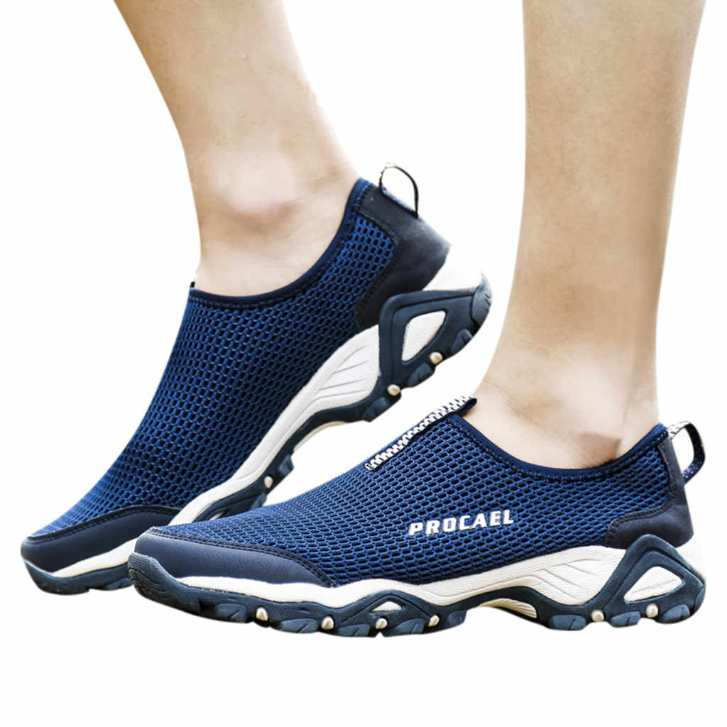 SAGACE zapatos casuales no de cuero zapatos de hombre zapatillas de senderismo escalada hombres \ x27s zapatos transpirables zapatillas de deporte masculinas altura 19Jun21