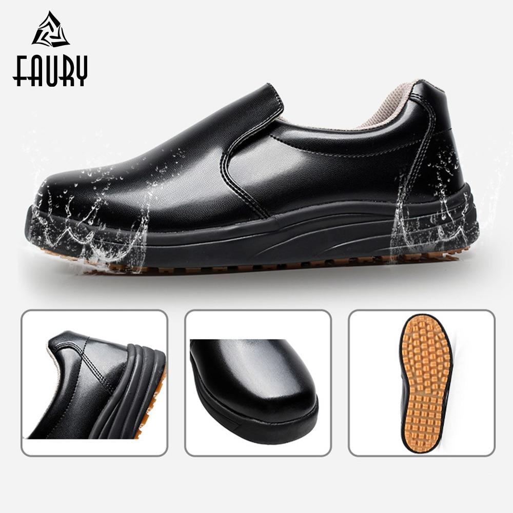 Professional Chef Kitchen Shoes Non-slip Waterproof Oil-proof Men Women Food Service Hotel Restaurant Cook Men Women Work Shoes
