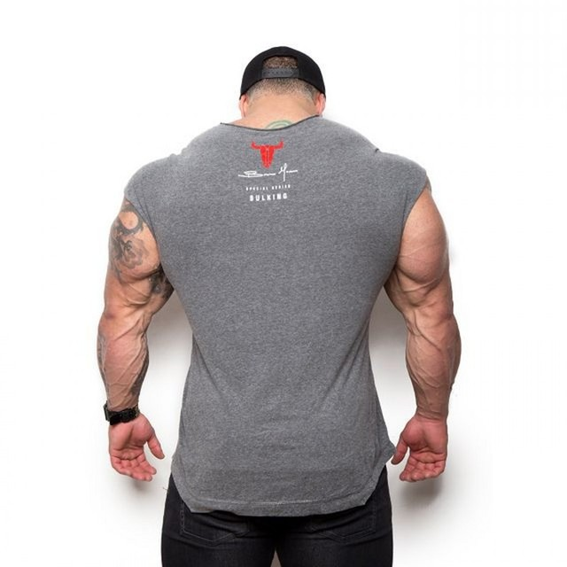 2019 BULKING Brand Men cotton t shirts fashion Casual gyms Fitness workout Short sleeves tees 2018 summer new male tops clothing