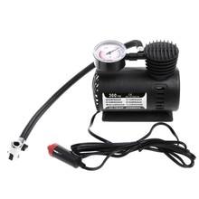 Novo 300 psi 12v carro portátil mini compressor de ar elétrico pneu inflator bomba com calibre pressão