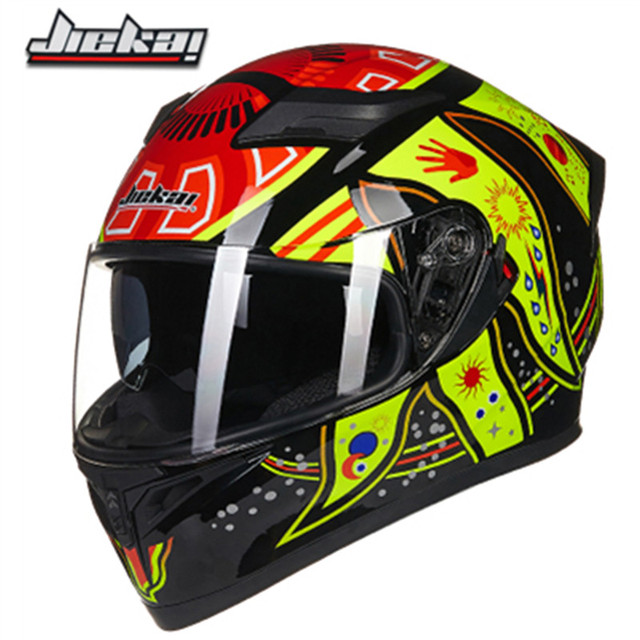 JIEKAI 316series double lens motorbike helmet DOT ECE approved motorcycle helmet 8 color available for man and woman