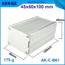 1 piece heatsink aluminum enclosure in silver for diy electrical pcb broad 45*60*100mm