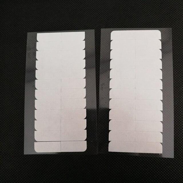 10 枚 120 個 4 センチメートル * 0.8 センチメートル強力なダブル両面テープステッカースーパーヘアーヘアエクステンションツール