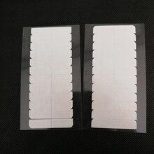 Cinta adhesiva de doble cara para extensiones de cabello, 10 hojas, 120 Uds., 4cm x 0,8 cm, cinta de pelo fuerte