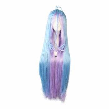 цена на MCOSER Free Shipping Synthetic 105cm multi-color Long straight hair  Cosplay Wig 100% High Temperature Fiber Hair WIG-558B