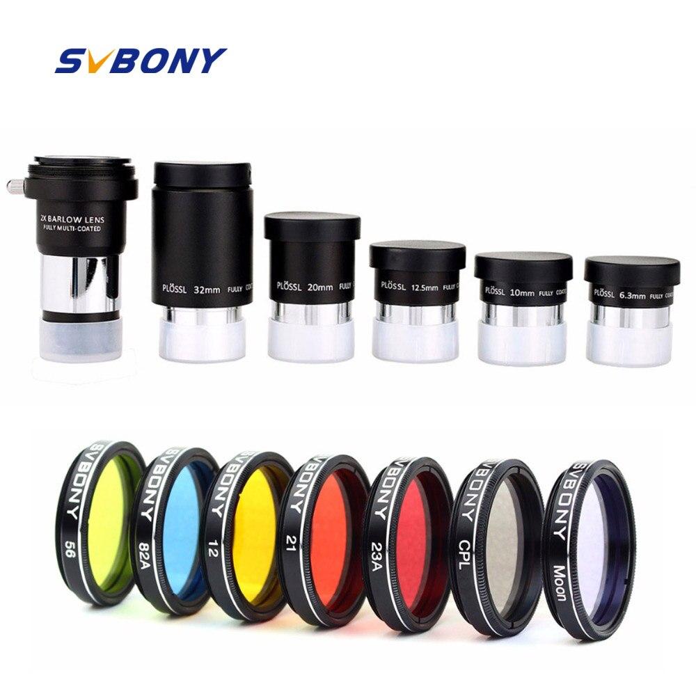 SVBONY 1 25 Plossl Eyepiece 6 3 10 12 5 20 32mm Multi Coated Filter 2x