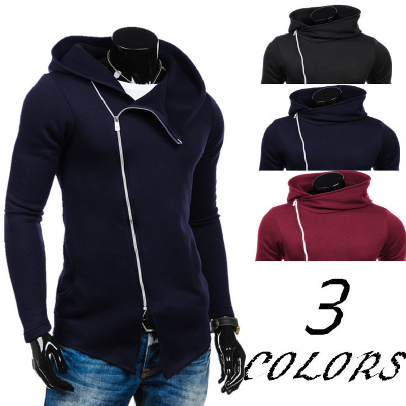 Fashion Mens Slim Long Sleeve Hooded Cardigan Casual Zipper Hoodie Hoodies For Men