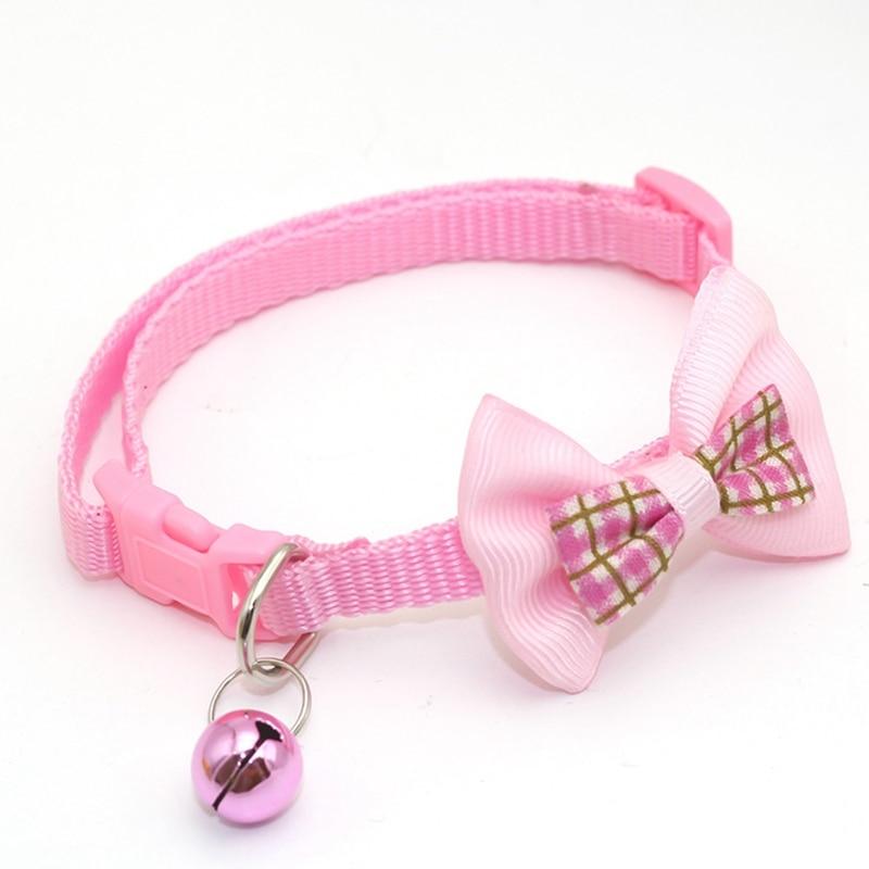 """1 шт., карамельный цвет, регулируемый галстук-бабочка, колокольчик, распродажа, ошейник """"галстук-бабочка"""", щенок, котенок, собака, кошка, домашнее животное, Прямая поставка - Цвет: PK2"""