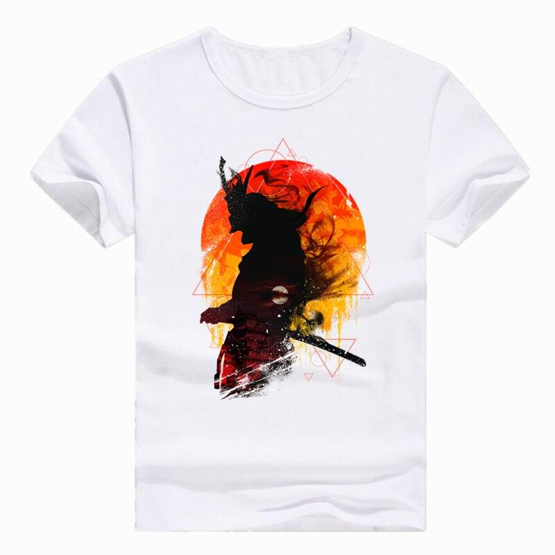 Asian Size Print Japan Samurai Warrior T-shirt Short sleeve Summer Casual O-Neck T shirt Men Women HCP366