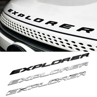 High Quality Car Styling Front Or Back EXPLORER Sticker Letters Emblem Logo For Ford Explorer Badge