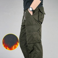 High Quality Winter Warm Men Thick Cargo Pants Double Layer Military Army Camouflage Tactical Cotton Trousers