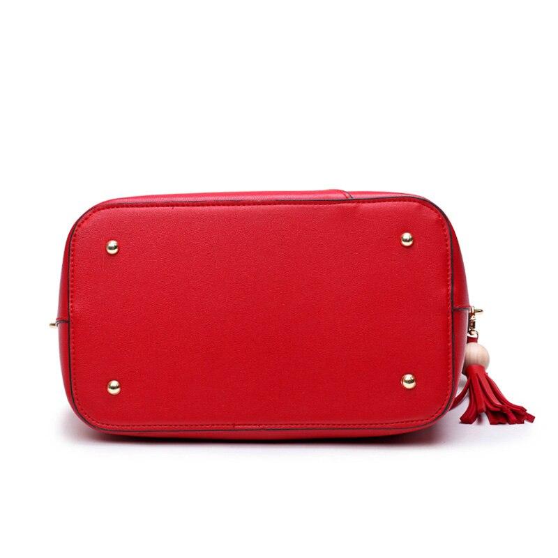 bolsa de luxo de couro Color : Black Red Pink Burgundy