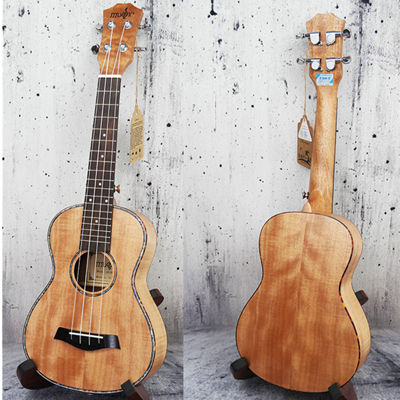 23 Ukulele Tiger stripes okoume Hawaiian Guitar Rosewood Fretboard 4 strings Concert Electric Ukelele with Pickup EQ Uke
