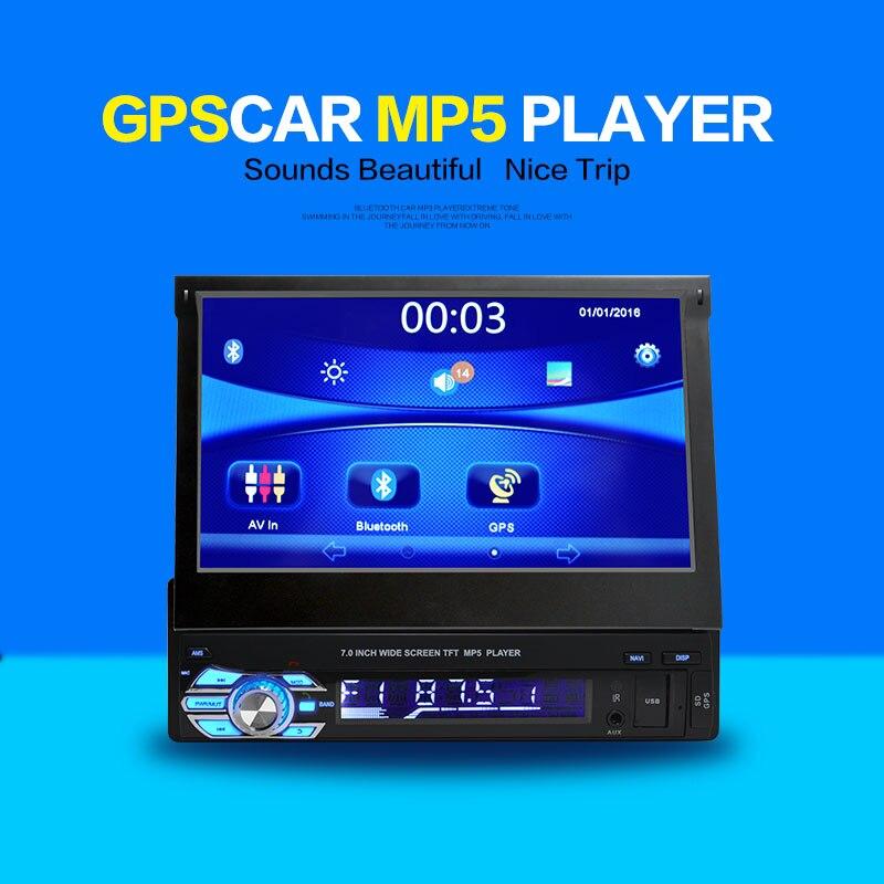 imágenes para 1 DIN 7 pulgadas de pantalla Táctil de Coches Stereo MP3 MP4 Mp5 GPS de Navegación/Bluetooth/USB/SD/Control remoto/FM radio/Cámara/Mapa Gratuito