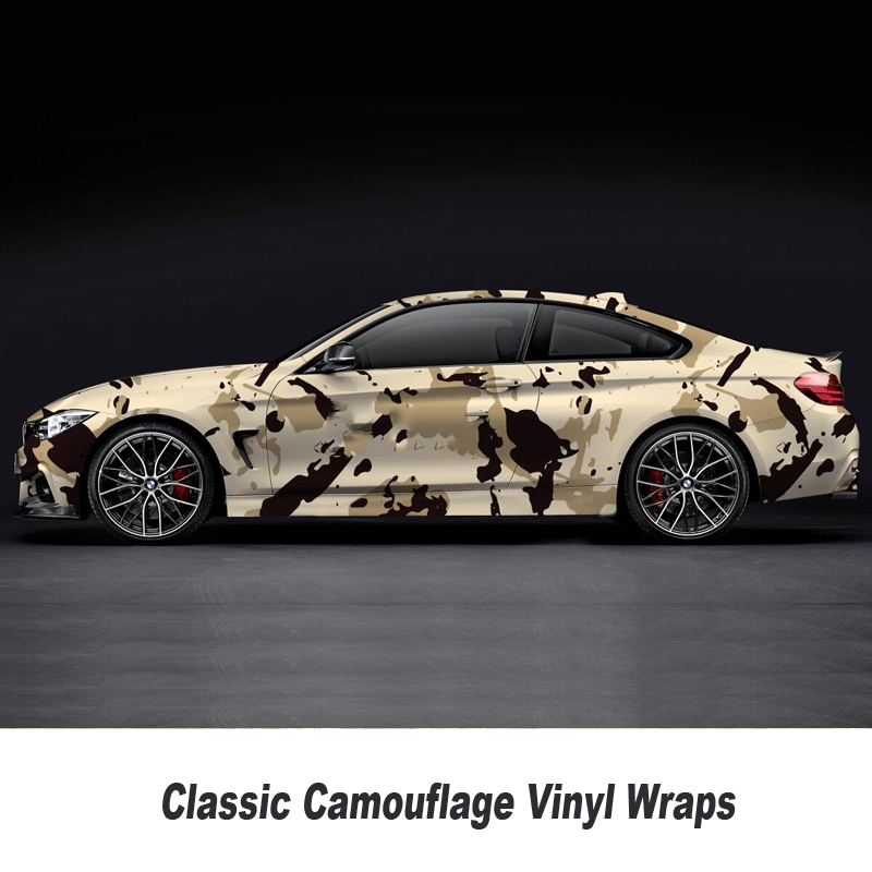 Camouflage Printed Vinyl Wrapping Motorcycle Scooter Sticker Wrap Car DIY Styling Camo Film Sheet 5m/10m/15m/20m/25m/30m arctic camo vinyl wrap camouflage vinyl film black white vehicle wrap sheets snow camo roll 1 52 5m 10m 30m
