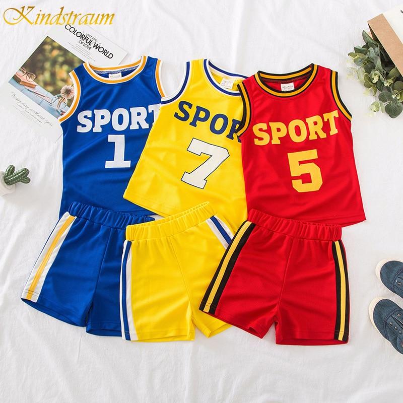 2019 kinder Basketball Jersey kinder Basketball Baby Mädchen Trainingsanzug 2 stücke Set Kinder Jungen/Mädchen Sport Kleidung Set outfit DC085