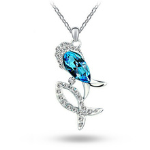 Exquisite Pisces Statement Necklace Austrian Crystal Necklaces Pendants Kolye Jewellery Birthday Gifts For Women