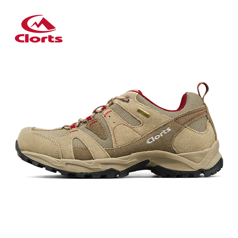 2016 Clorts Men Shoes for Hiking Uneebtex Waterproof Outdoor Trekking Shoes Suede Sport Climbing Sneakers for Men HKL-828 clorts hiking shoes for men outdoor suede leather trekking shoes lace up climbing shoes mens hiking rock shoes sneakers 3e004b