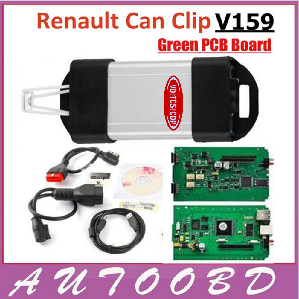 V159 Renault Can Clip with good PCB Board Professional OBD2 Diagnostic Tool Can Clip Scanner For Renault with Multi-Languages