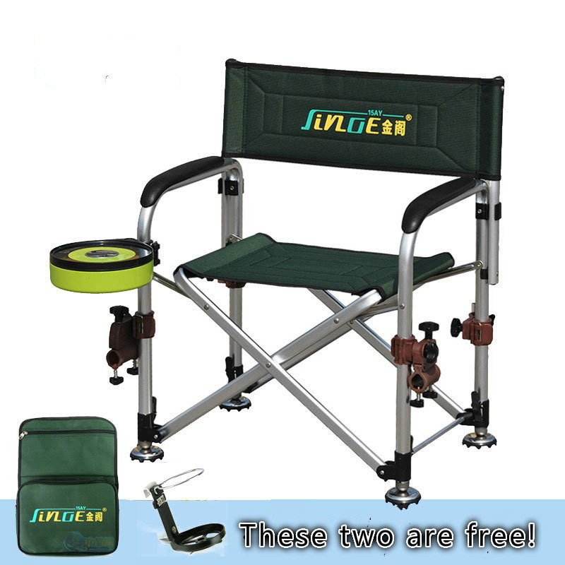 JinGe multifunctional foldable fishing chair with side bag 15AY fishing seat set seat oxford cloth lightweight 3 in 1 outdoor portable multifunctional foldable cooler bag chair backpack fishing stool chair