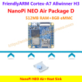 Quad-core Cortex-A7 FriendlyARM NanoPi NEO Air(512MB RAM)+Heat Sink=NanoPi NEO Air Package D(WIFI&Bluetooth,8GB eMMC)