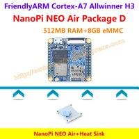 Quad Core Cortex A7 FriendlyARM NanoPi NEO Air 512MB RAM Heat Sink Clear Case NanoPi NEO