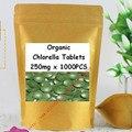 Органические Хлореллы Таблетки 1000 Отсчетов x250mg бесплатная доставка