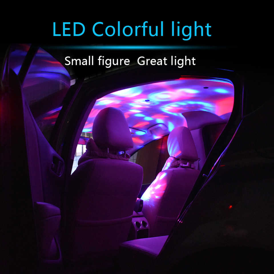 2pcs Party Car Interior Dj Neon Lights Music Rhythm Lamp Cars Light Usb Blue Red Green Rgb Sound Led For Auto