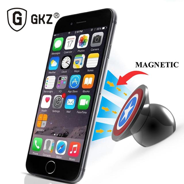 GKZ B1 UF-A 360 Grados Magnética Del Coche Del Teléfono Sostenedor Del Teléfono Del Coche kit de montaje soporte para iphone 6 5 samsung s4 s5 magneticphone Holdert
