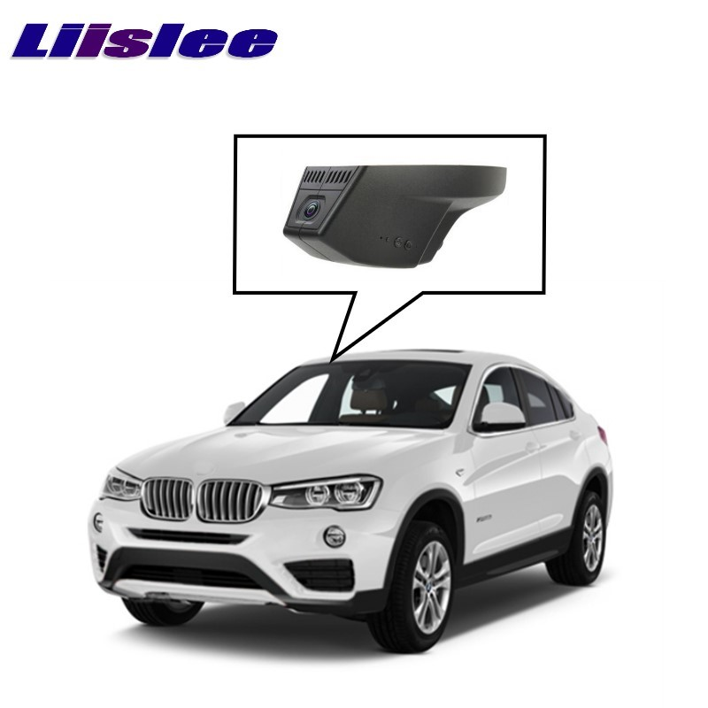 LiisLee Car Black Box WiFi DVR Dash Camera Driving Video Recorder For BMW X1 E48 X4 F26 2016 2017 for kia carnival car driving video recorder dvr mini control app wifi camera black box registrator dash cam original style