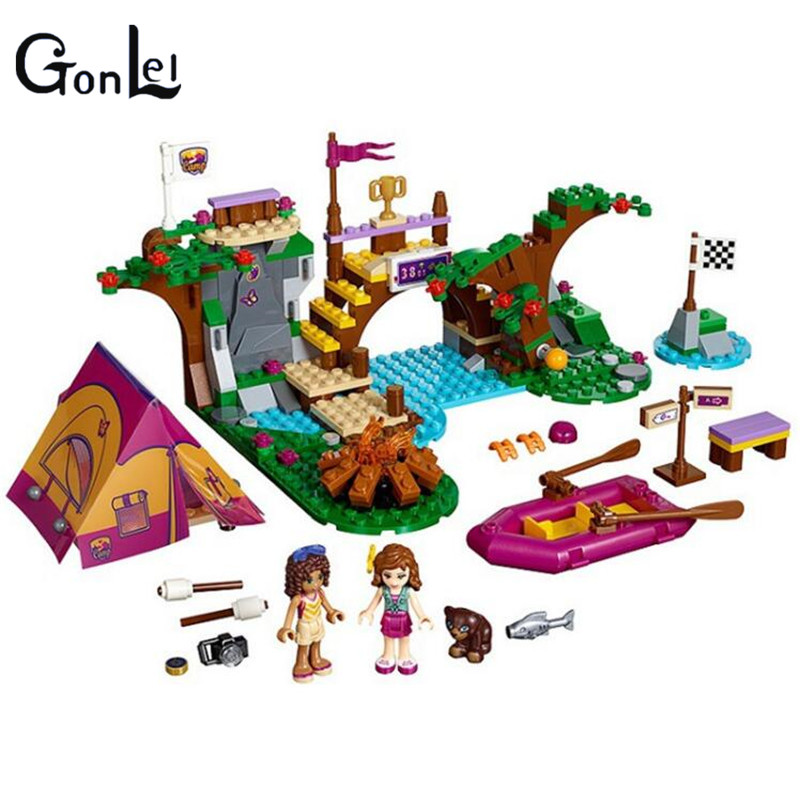(GonLeI)10493 Friends Adventure Camp Rafting Building Blocks Set Model Compatible With Friends For Girls